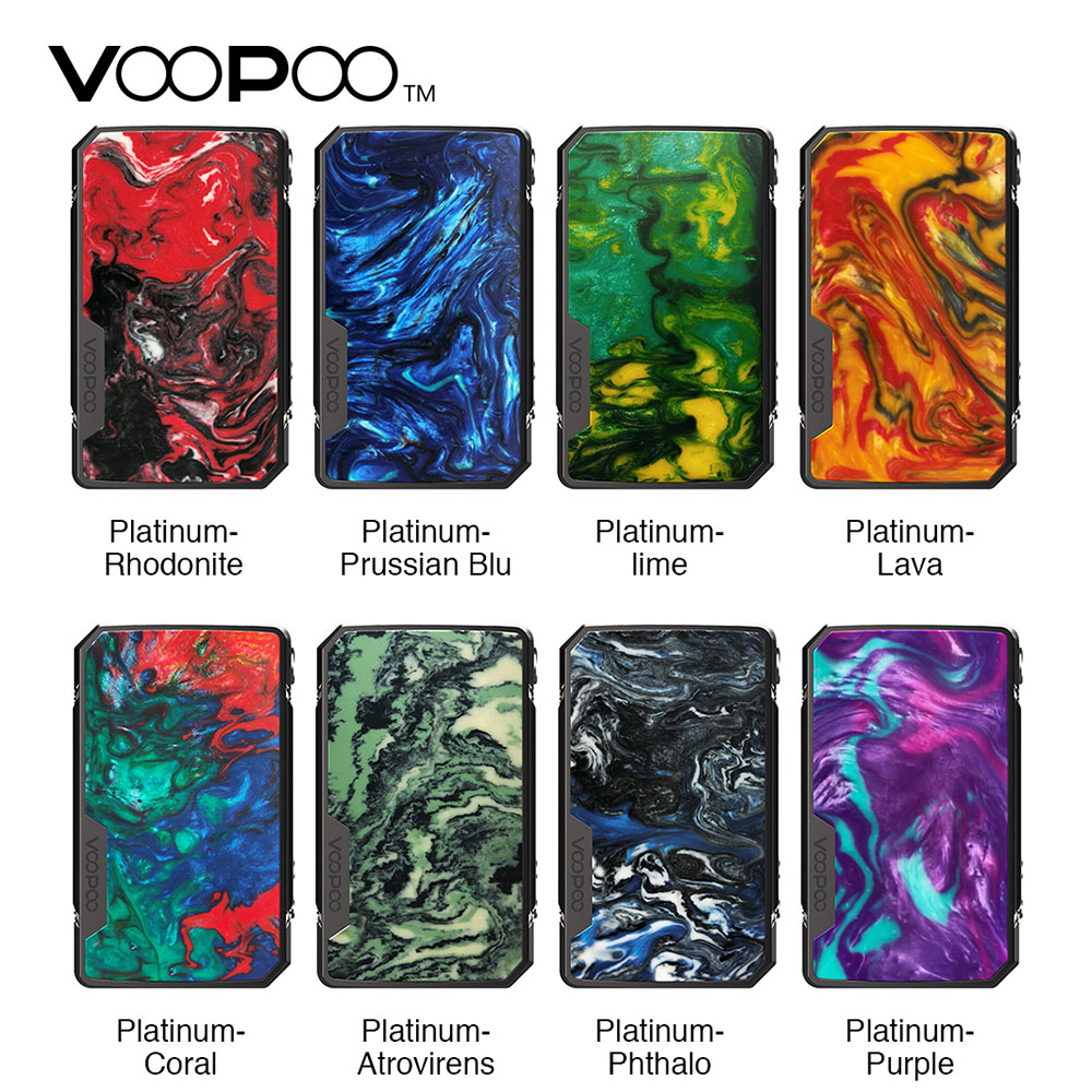 NEW Original VOOPOO Drag Mini Platinum Edition BOX MOD 117W E cigarette Mod with 4400mAh Battery