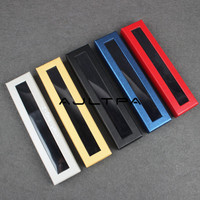 5 colors Fashion Office Pen Display Packaging Box pen Gift Jewelry Packaging paper Box with pvc window wholesale 100~500pcs
