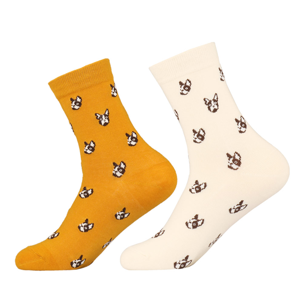 Novelty Lovers Bulldog Cotton Crew Socks Japanese Kawaii Women Men Pet Dog Puppy Cartoon Casual Long Sock Winter