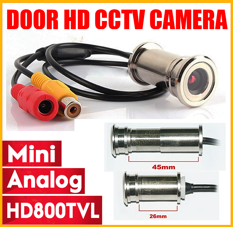 3.28BigSale HD 800TVL Cat Eye Door Hole Security Color Camera CMOS 3.6mm Peephole Cctv Video Security Surveillance Mini Camera