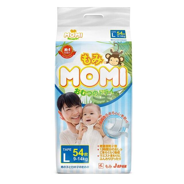 Подгузники  MOMI L (9-14 кг), 54 шт