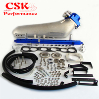 Intake Manifold+VQ35 80mm Throttle Body+Fuel Rail For Toyota Supra 2JZGTE JZA80 93 98