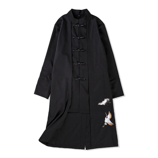 Плюс размер мужчины пальто китай стиль хлопок белье slim fit тренч куртка мужской моды случайные кунг-фу длинном пальто М-5XL