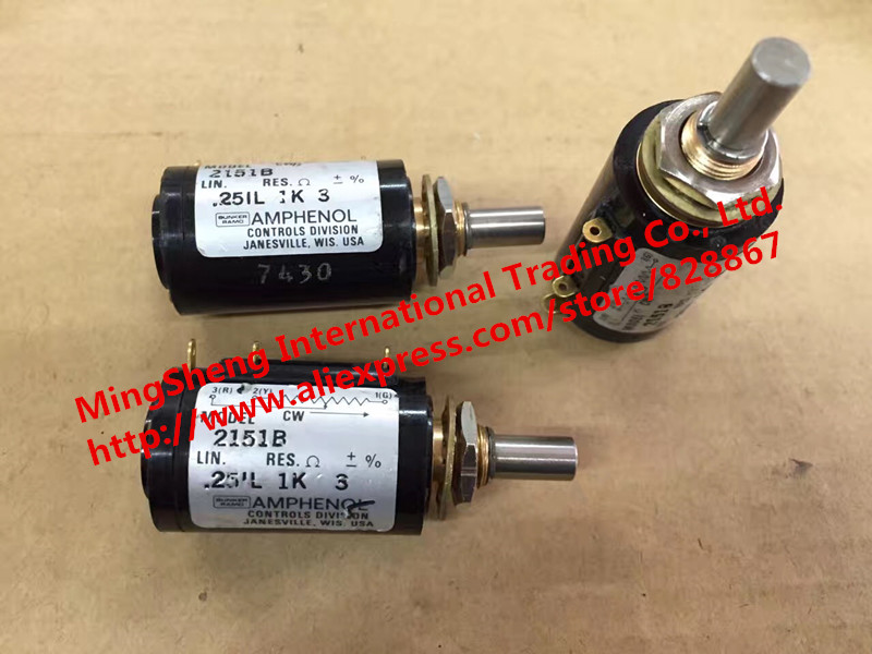 цена на Original new 100% USA imports MODEL 2151B 251L 1K 50K 10 Ring - turn potentiometer (SWITCH)