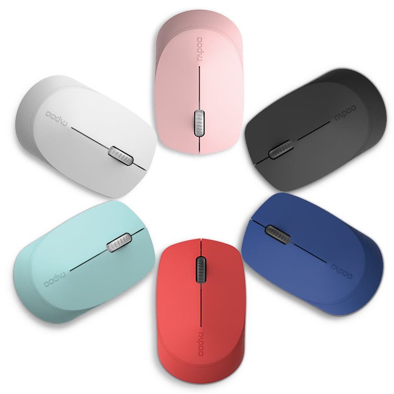 лучшая цена Rapoo Wireless Bluetooth 4.0 mute mouse optical Wireless Mouse Office Mice for Tablet Laptop Computer