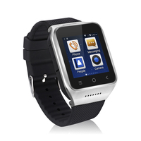 Clear Screen 3 Million Pixels S8 Intelligent Wrist Fitness 1G Dual Core For Android4.4 Smart Watch Silver GPS Chip Ultra