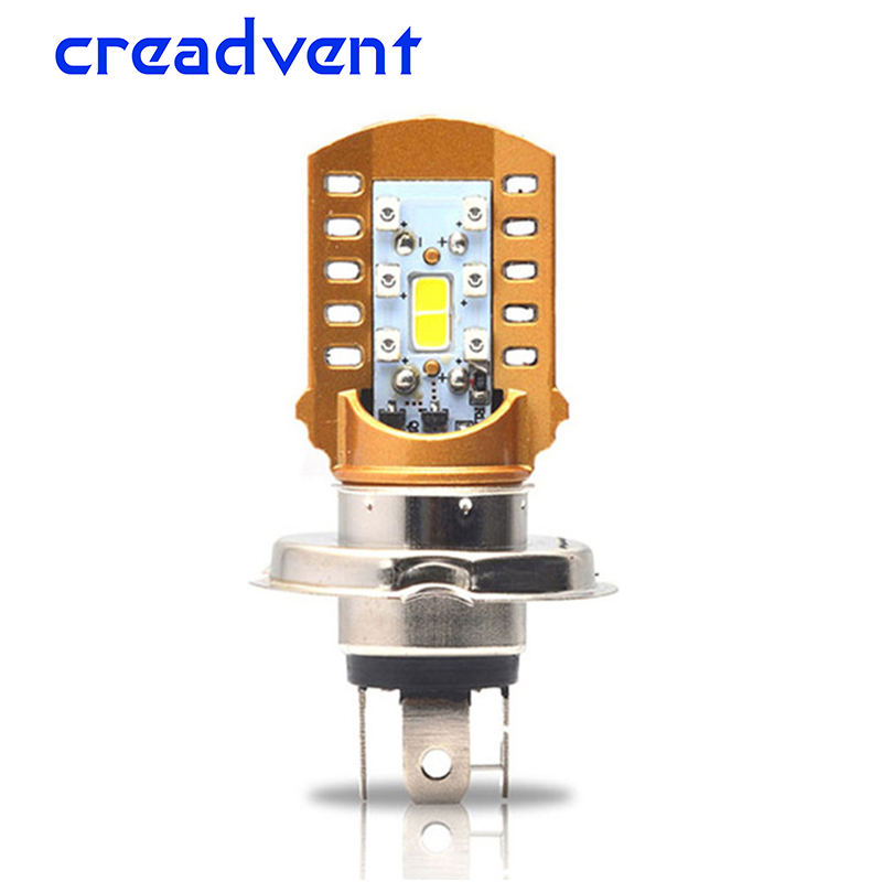 Creadvent 10W newest Motorcycle Headlight H4 led Bulbs 1000LM 6000K Lamp scooter front Headlamp for Yamaha Honda