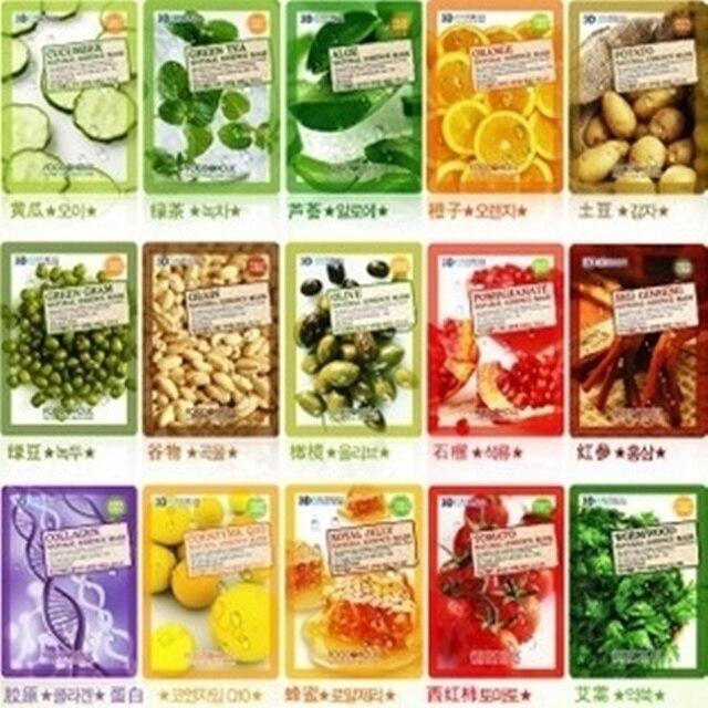 5 Pcs Lot Korea Kosmetik Makanan Holic 3d Alami Kecantikan Topeng