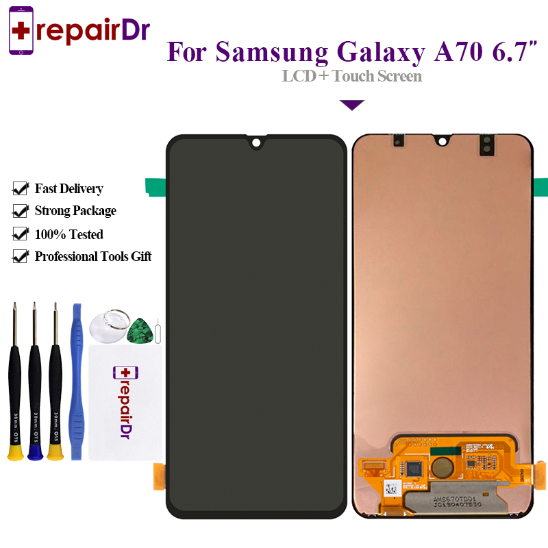 6 7 For Samsung Galaxy A70 LCD A705 A705F SM A705F Display Touch Screen Digitizer Assembly