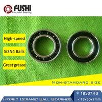 18307 Hybrid Ceramic Bearing 18x30x7mm ABEC 1 1 PC Bicycle Bottom Brackets Spares 18307RS Si3N4 Ball