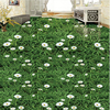Mural Custom Photo Floor Painting 3D Sticky Waterproof PVC Plant Flower Green Grass Grass Floor Painting