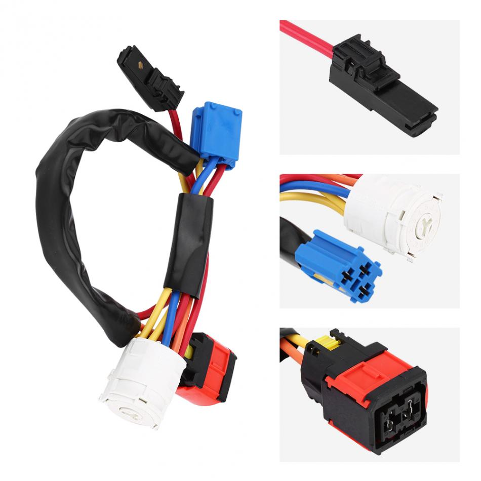 hight resolution of ignition switch cable ignition coil switch lock barrel plug cable wire for peugeot 206 406