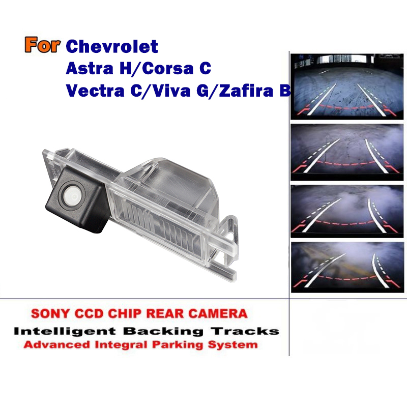 US $34 69 36% OFF|Smart Tracks Chip Camera HD CCD Intelligent Dynamic Rear  View Came For Chevrolet Astra H / Corsa C / Vectra C / Viva G / Zafira-in