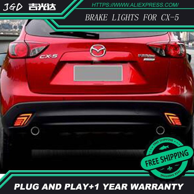 Free shipping Tail light parking warning rear bumper reflector for Mazda CX-5 CX5 2013 2014 2015 2016 Car styling 1 piece rh kd77 51 650 a rear bumper lamp tail fog light for mazda cx 5 2013 2015