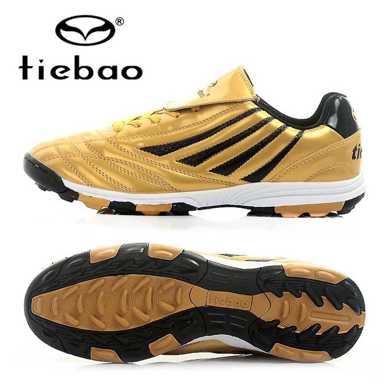 TIEBAO Professional Botas De Futbol Soccer Shoes Boys Sports Football Boots TF Turf Soles Soccer Cleats Training Sneakers Shoes health top soccer shoes kids football boots cleats futsal shoes adult child crushed breathable sport football shoes plus 36 45
