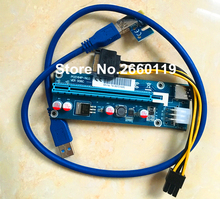50 pcs / lot PCI-E 1X TO 16X PCE164P-N03 VER 006C graphics card Riser Card USB 3.0 Extension Cable for BTC Miner Machine