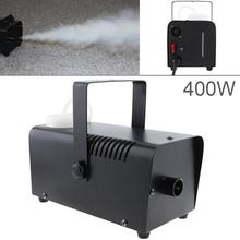 цена на Wire Control LED 400W Smoke Machine Hood LED Fog Machine Professional Fog Machine Smoke Ejector for Wedding Stage Bar KTV