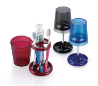 1 Piece Creative Bathroom Sets Toothbrush Holder Toothpaste Stand 4 Colors Optionals Shape Like Desk Lamp Warm Feeling