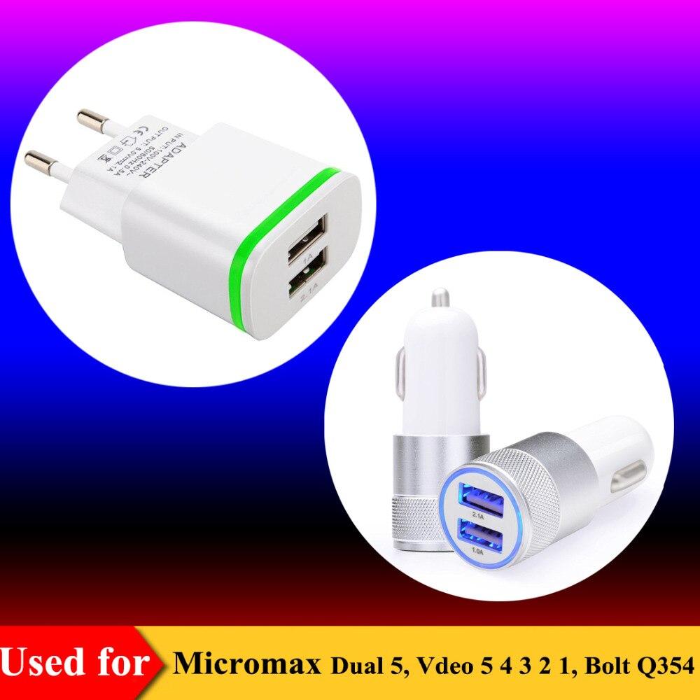 Ес plug ac источник dual usb зарядное устройство для micromax двойного 5, q354 зарядное устройство для micromax болт vdeo 5 4 3 2 1 автомобильное зарядное устройст…