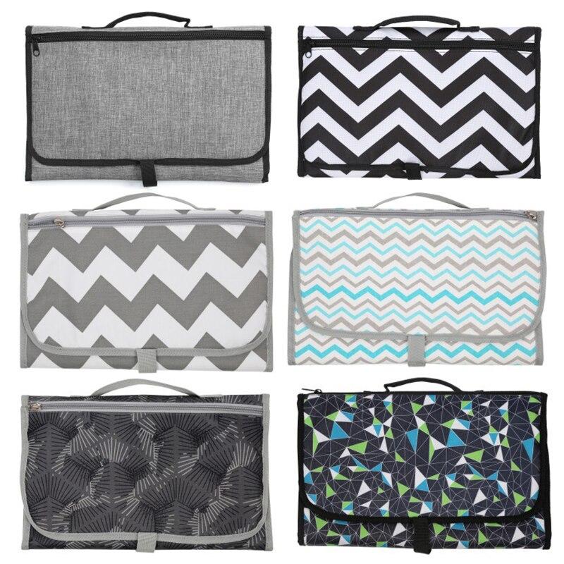Waterproof Changing Pad Covers Travel Folding Grey Diaper Cover Mat Reusable Diapers Mat For Newborns Baby Changer Mattress Pads
