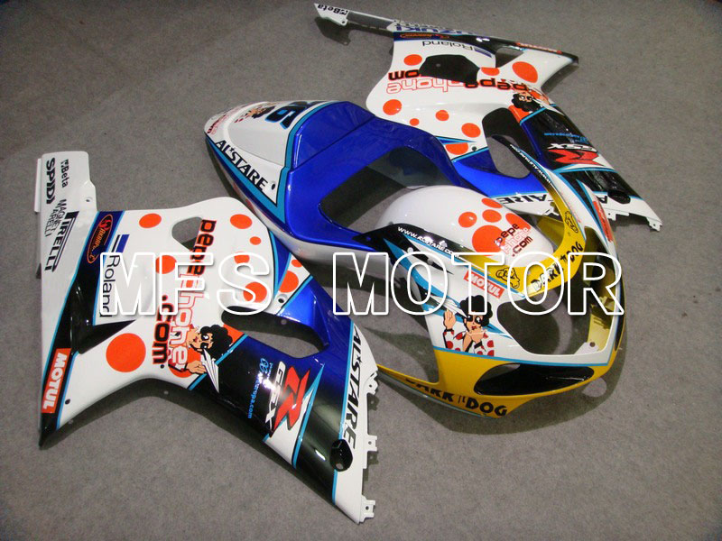 Прессформы для Suzuki GSXR600/750 K1 и K2 2001 2002 2003 01 02 03 впрыска ABS обтекатель комплекты - Темный собака - Цвет