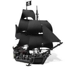 804 шт., набор строительных блоков с изображением корабля Legoings Из Черной жемчужины, игрушки, лучший подарок на день рождения ребенка