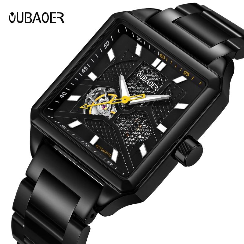 все цены на OUBAOER Business Mechanical Watches Mens Skeleton Automatic Watch Men Relojes Hombre male clock reloj hombre orologio uomo