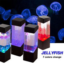 7Colors Chaning Jellyfish Lamp Aquarium Creative LED Night Light Desk Lamp Fish Volcanic LED Light for Home Decor Bedroom Car