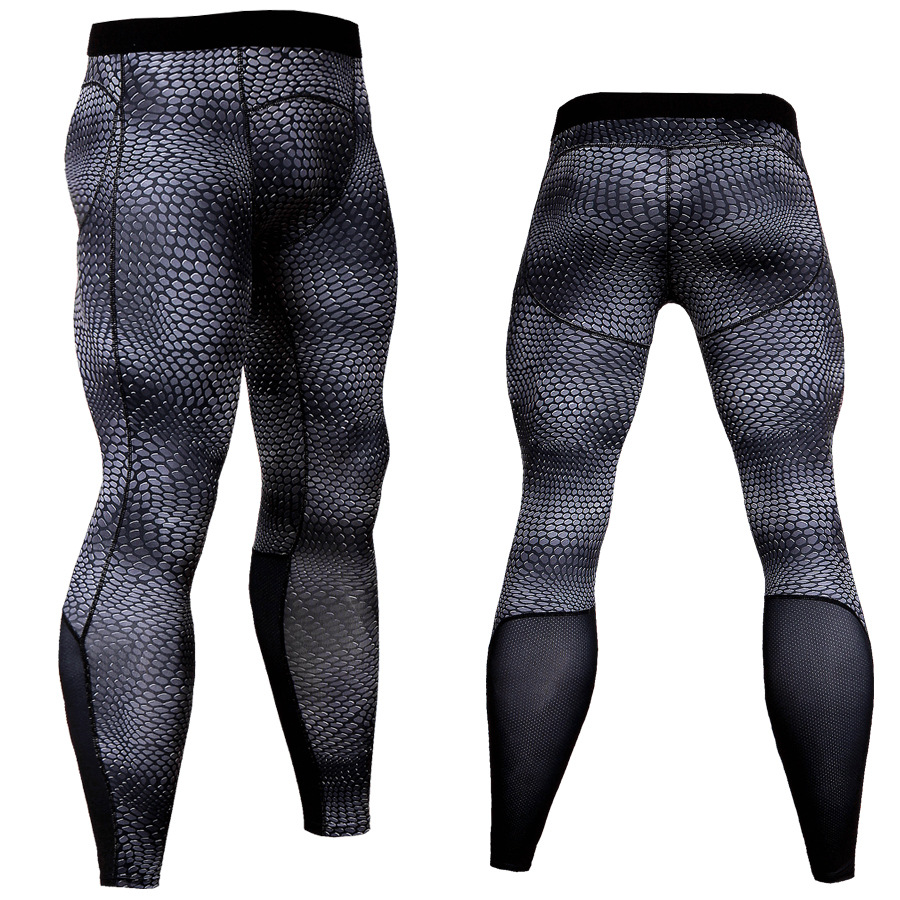 Bodybuilding Mens Compression Tight Pants Men Fitness Joggers Elastic Leggings Workout Male Quick Drying Long Pant Dropshipping