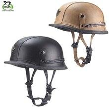 Casco de ciclismo WOSAWE, casco de bicicleta para deportes al aire libre, casco de seguridad abierto para Moto MTB, casco de cuero para adultos con personalidad Retro