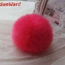 CharmDemon Rabbit Fur Ball Key Chains Mobile Phone Plug Backpack Bags Decorations at9