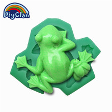 (1pc/lot) New Frog fondant cake mold silicone baking tools pudding dessert molds for decorating chocolates soap mould C0124