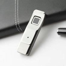 Новый u диск металлический для отпечатков пальцев безопасности