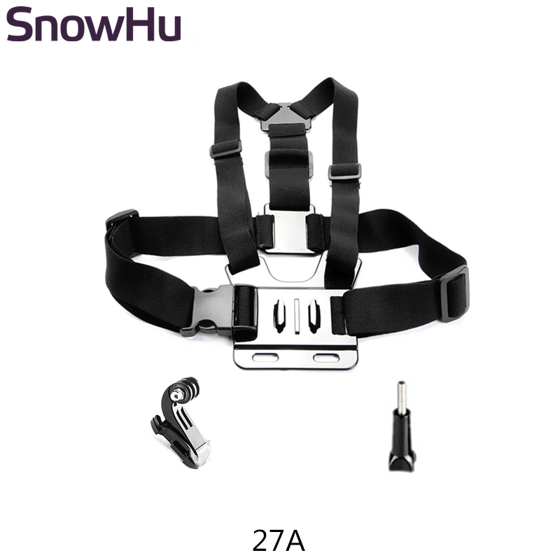 SnowHu para Acessórios Gopro Chest Strap mount Para Go pro hero 7 6 5 4 3 + para Xiaomi para yi 4 K para sjcam action camera GP27L