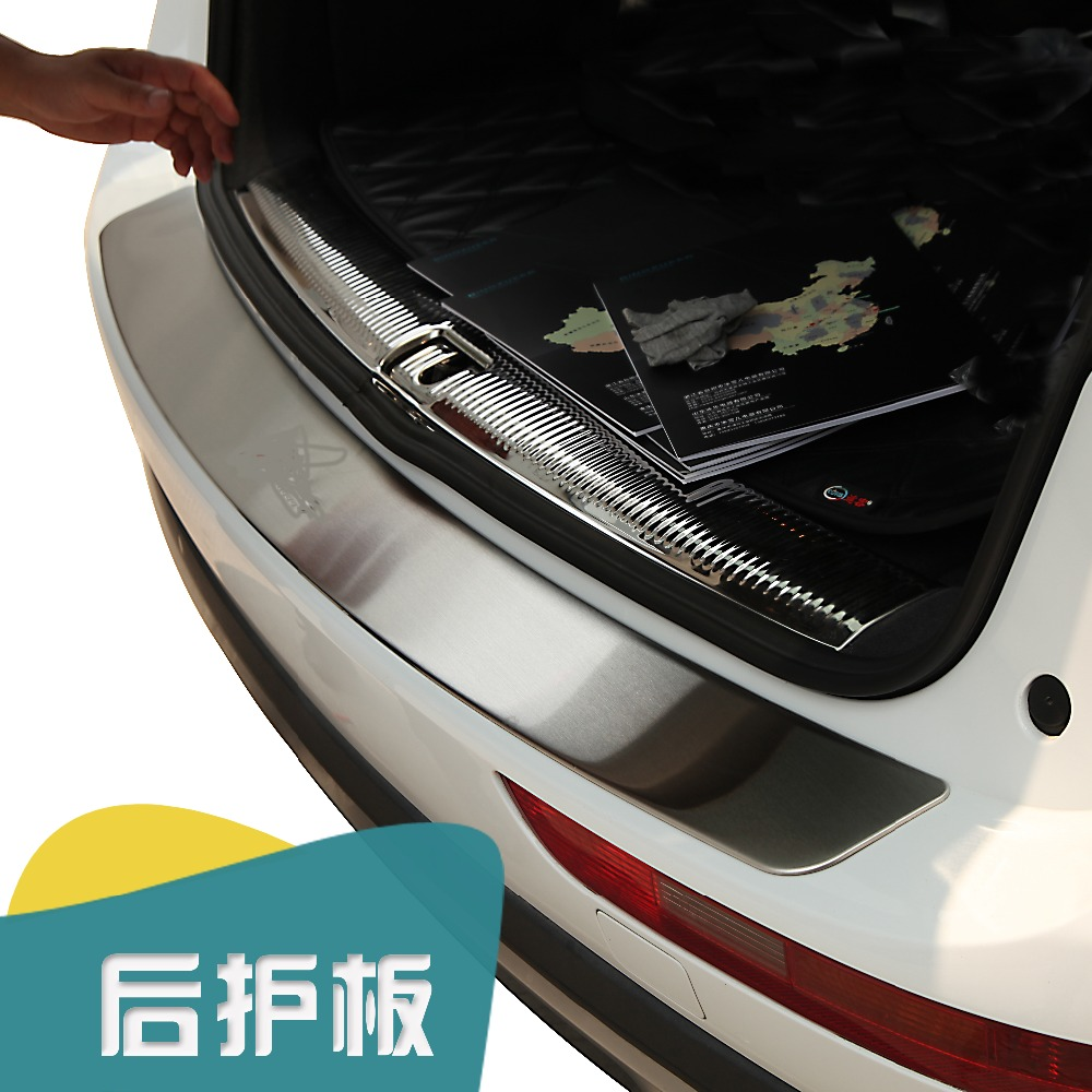 Подробнее о High quality stainless steel Chrome Rear Bumper cover door sill plate for 2009  2010 2011 2012 2013 2014 Audi Q5 car styling free shipping car sticker stainless steel rear bumper protector sill plate cover for audi q5 2009 2010 2011 2012 2013 2014 2015
