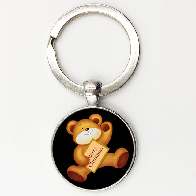 3bc3732256 US $2.84 5% OFF|New Arrival teddy bear keychain Merry christmas gift Zinc  alloy key ring key holder handbag charm accessory Free shipping KC51-in Key  ...
