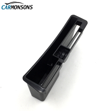 Carmonsons Center Console Card Storage Box Container Holder Tray for Audi A4 B8 A5 Accessories Car Organizer Car Styling