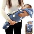 2016 Nuevo Invierno Envoltura Envolver Bebé Saco de dormir Mantas de Bebé Pañales Recién Nacido Toalla Suave Felpa Corta Sobre Pañales