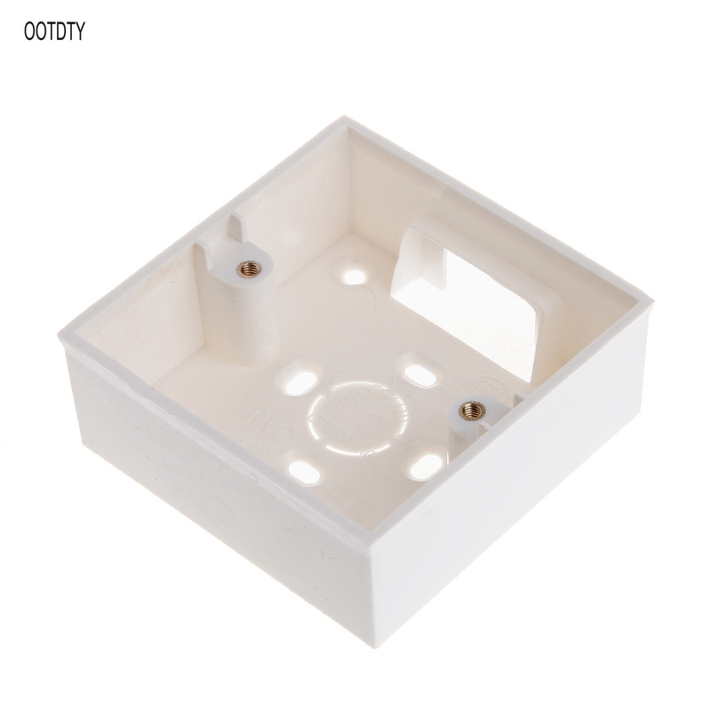 86 Type Switch Socket Base Outfit Junction Box Surface Mount Bottom Box Wall Switch Socket Dark Box White