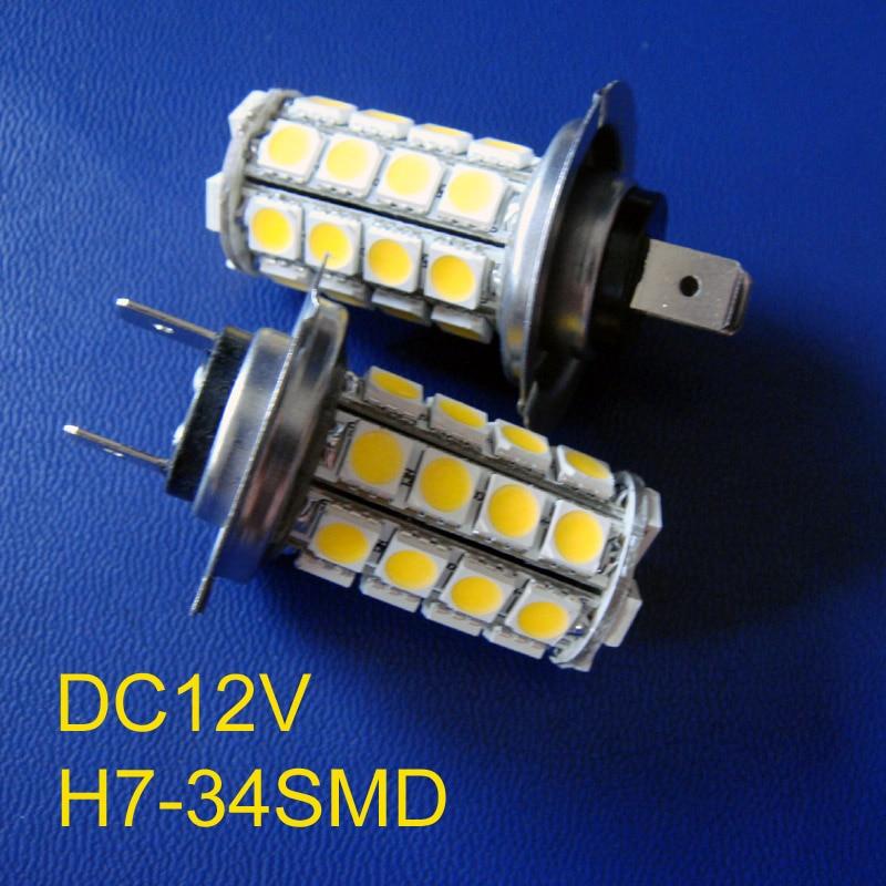 Lights & Lighting High-intensity 5050smd 3chips 34pcs Led 12v 6w H7 Car Led Fog Lights,led H7 Fog Lights Free Shipping 2pcs/lot Led Bulbs & Tubes