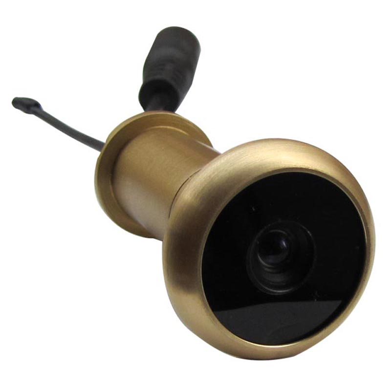 3RD 5.8G Wireless Door Peephole Camera Lens Pure Brass Material Door Camera 13.8mm Diameter 90 Degree VOA And 0.008lux 720X480pi