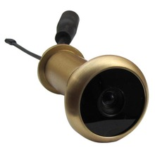 3RD 5.8G Wireless Door Peephole Camera Lens Pure Brass Material Door Camera 13.8mm Diameter 90 Degree VOA And 0.008lux 720X480pi