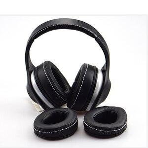 Image 2 - 1 paire remplacement protéine peau cuir mousse oreillettes coussins pour DENON AH D600 AH D7100 casque haute qualité 1.19