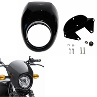 Black Headlight Plastic Front Visor Fairing Cool Mask Bezel For Harley 883 XL1200 Dyna Sportster FX Motorcycle accessories