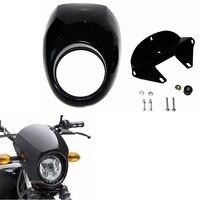 Black Headlight Plastic Front Visor Fairing Cool Mask Bezel For Harley 883 XL1200 Dyna Sportster FX