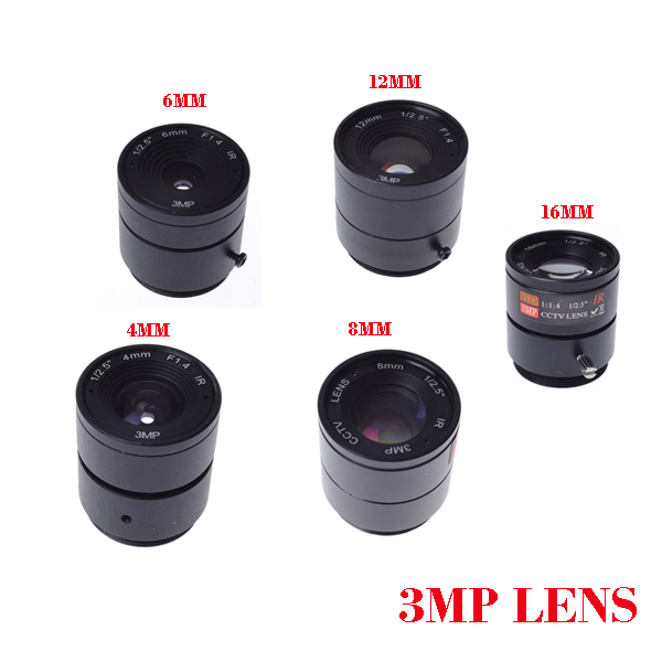 IR 1/2.5 Inch 3MP 4mm F1.4 Fixed CS Mount Mega Lens 1080P HD CCTV Lens For IP HDCVI SDI Camera IP Camera 8mm 12mm 16mm cctv ir cs metal lens for cctv video cameras support cs mount 1 3 format f1 2 fixed iris manual focus