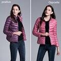 Hot Sale Winter Duck Down Jacket Women Hooded Ultra Light Down Jackets Reversible Two Side Wear Women Jacket Winter Coat Parkas