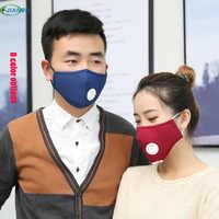 Pm 2,5 anticontaminación mascarilla respirador de polvo lavable reutilizable mascarillas de algodón mufla de boca Unisex para alergia/Asma/viaje /ciclismo