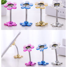 Plum flower Double-sided suction cup desktop phone holder portable scaffolding Suction desk smartphone support Mobile phone sten(China)