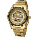 2016 New Arrival Homem relógios de Pulso De ouro masculino Mecânico Automático Relógios esporte Estilo militar Moda FORSINING relógio esqueleto